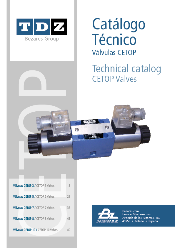 CETOP valves and manifolds catalog – TDZ