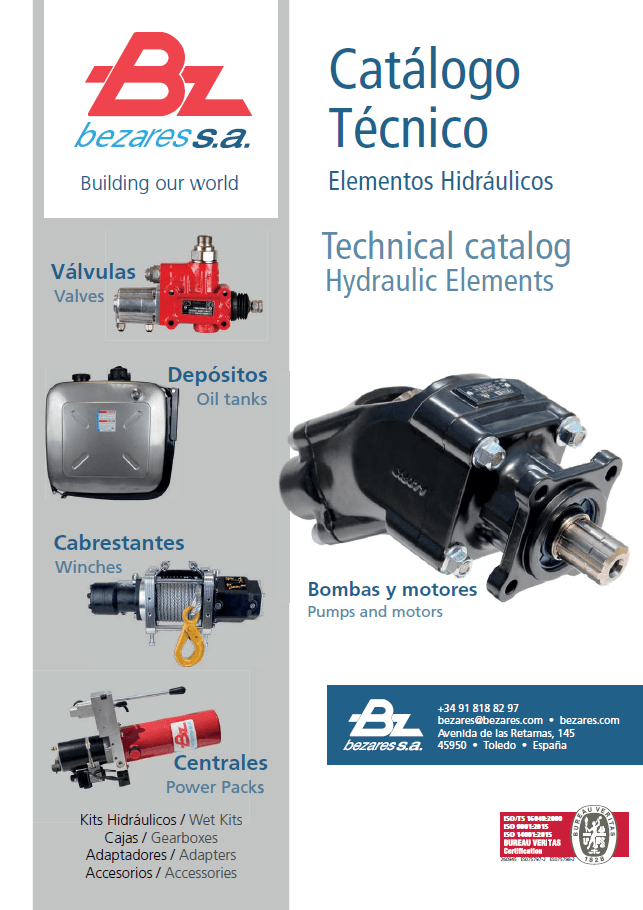 Technical hydraulic catalog - Bezares SA