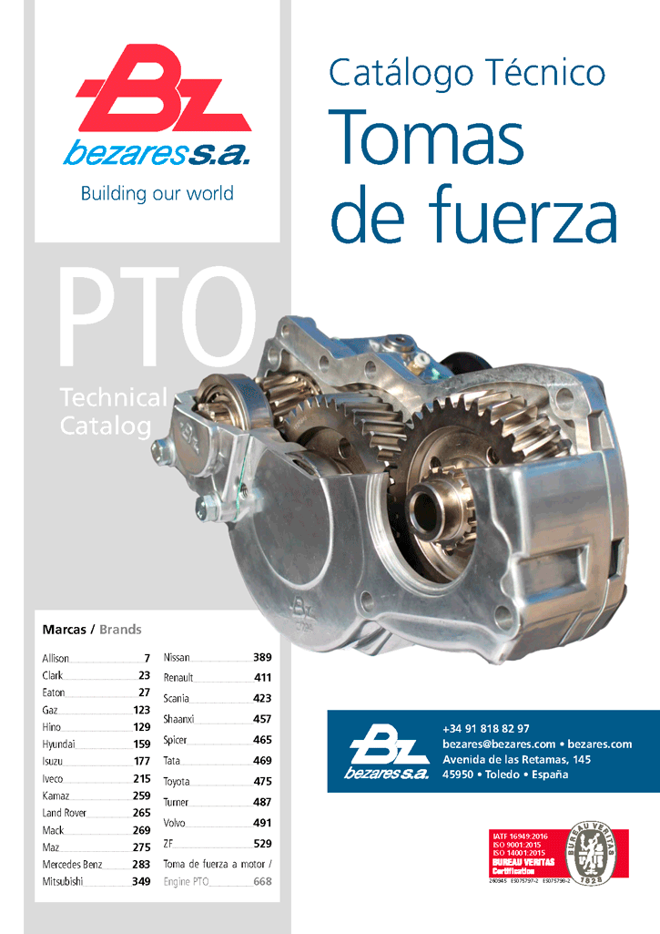 Power Takeoff (PTO) catalog - Bezares SA