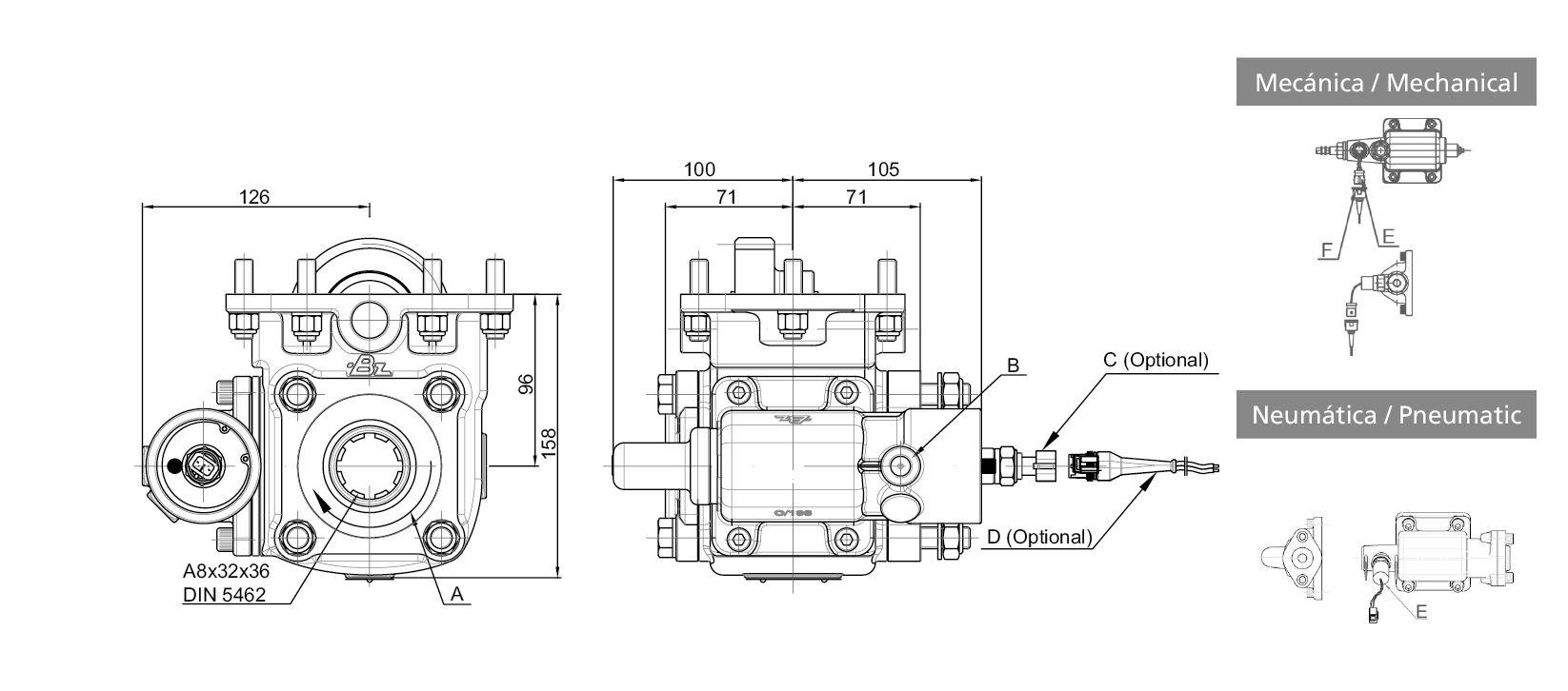 068203 side mount vacuum - single acting