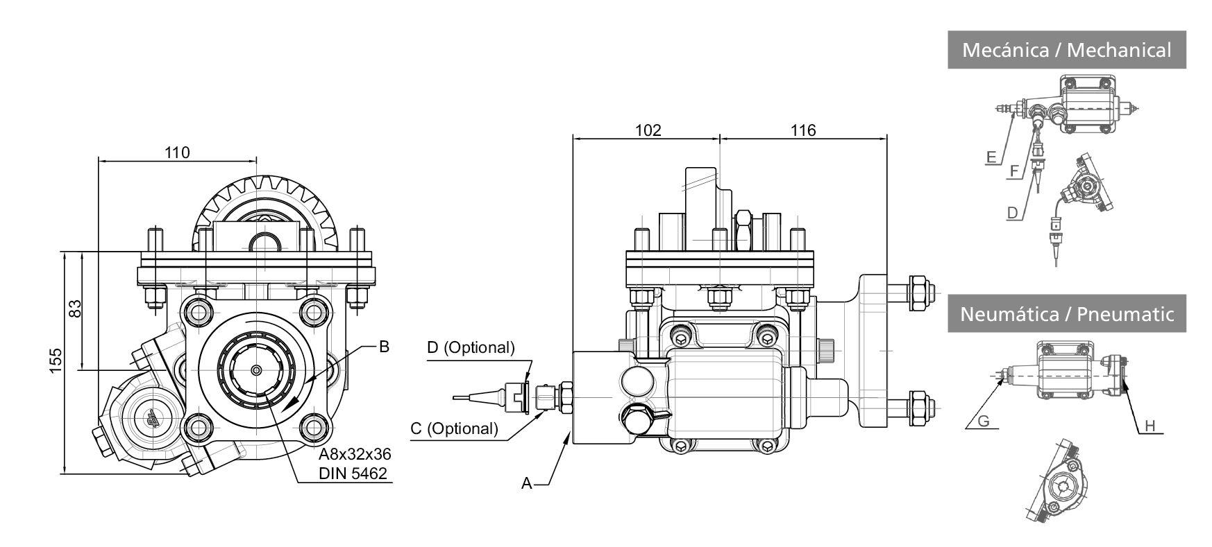 068503 side mount vacuum - single acting