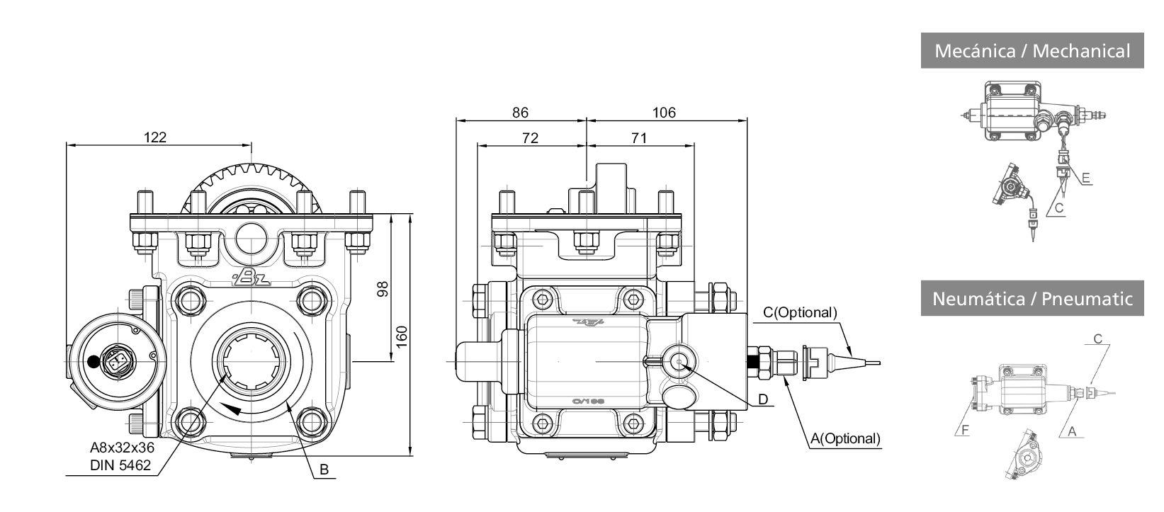 270503 side mount vacuum- single acting