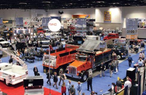 2018年的工作卡车展。