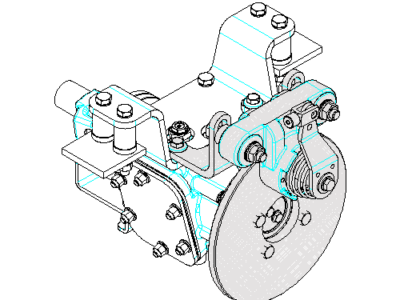 New braking system for BZ-350 transfer cases