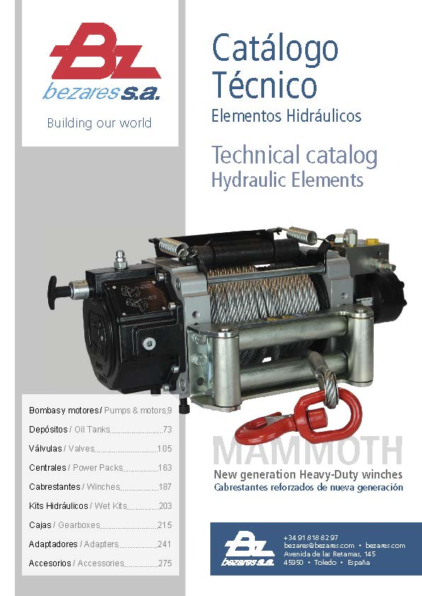 Technical catalog for hydraulic elements