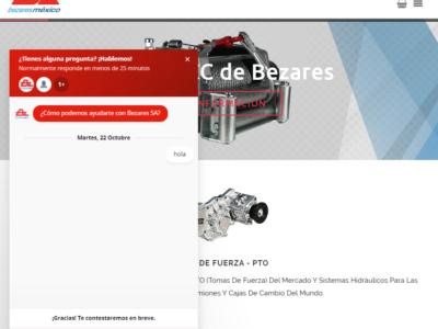Nuevo chat de ayuda para Bezares México
