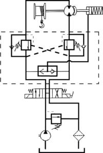 Circuito hidráulico cabrestante BULL