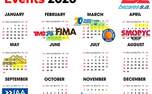 Bezares' 2020 Events Schedule