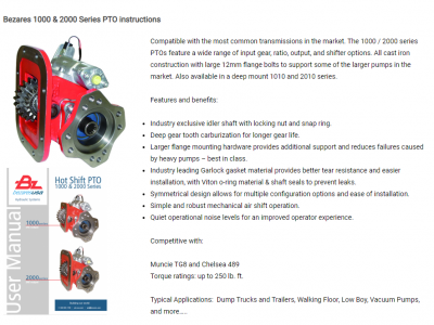 New product page for 1000 and 2000 Series PTO family