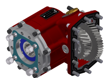 PTO 3151 with helical gears