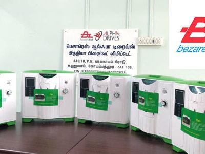 Bezares dona concentradores de oxígeno para India